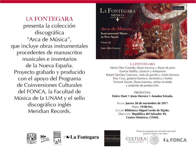 Flyer Presentación La Fontegara