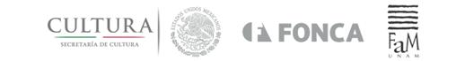 Logotipos Secretaría de Cultura FONCA y Facultad de Música