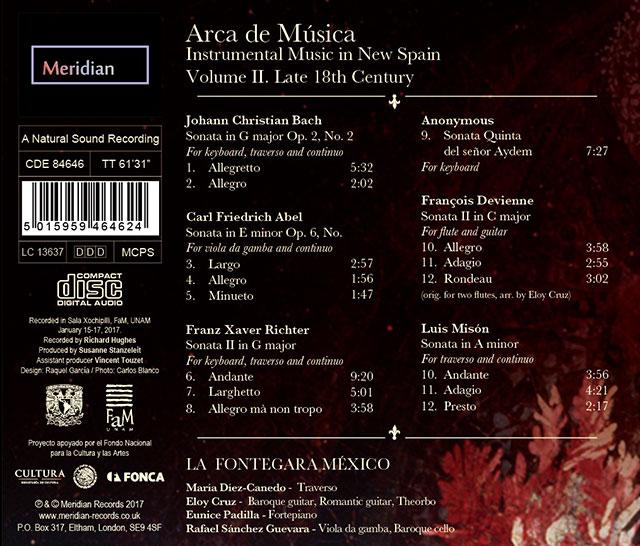 Contraportada Arca de Música Vol. II